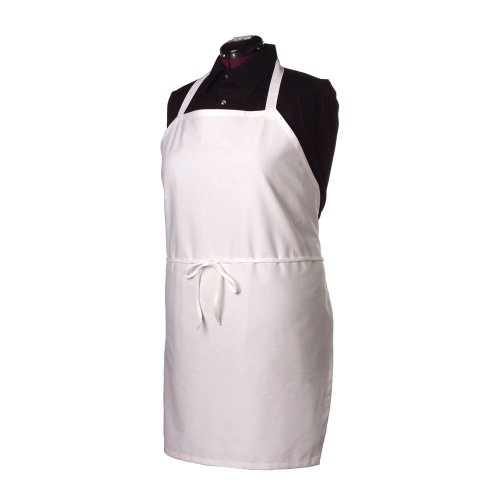 Ritz BIAWH White Bib Apron Without Pockets - John Ritzenthaler Towel