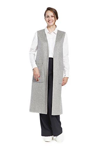 RLM Ladies Handmade Waistcoat Woolen Long Vest Coat Sleeveless Cardigan (8, ()