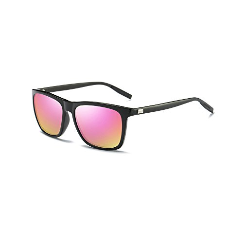 Ronsou Men Women Stylish Polarized Sunglasses 100% UV400 Protection Sun Glasses For Driving Fishing Golf black frame/pink - Pink Buy Criss Sunglasses Darren