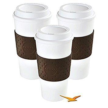Copco Eco-First Acadia Reusable To Go Mug BPA-Free, Brown - 3-Pack