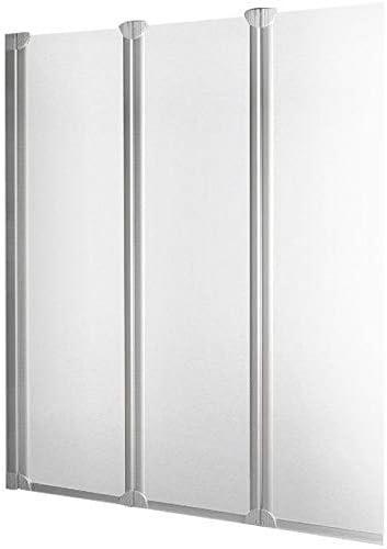 Schulte - Mampara de bañera plegable con pared reversible, 3 ...