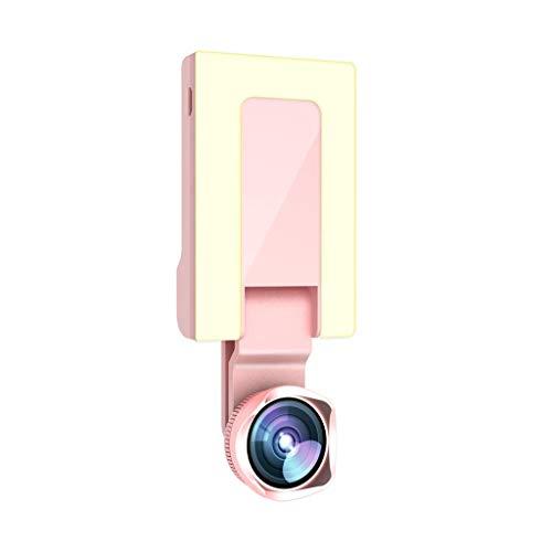 UMFunMobile Live Light Fill Light Beauty Face Self-Timer + HD Wide-Angle Lens (Pink) -