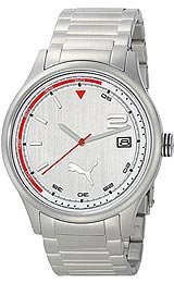 Puma Wheel 3HD - L Metal Silver Men's watch #PU102731005