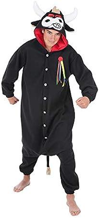 Creaciones Llopis Disfraz Pijama Toro Bull Adulto T-XL: Amazon.es ...