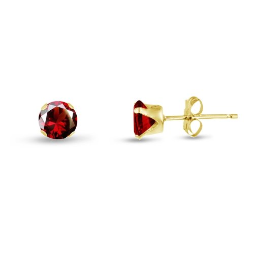 Simulated Garnet Earrings Sterling Goldplate product image