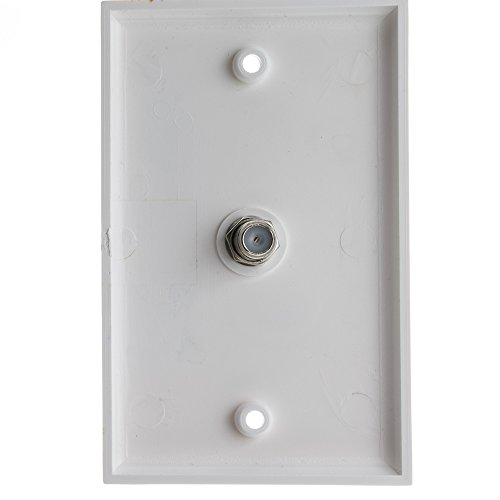 Hamptons Combo Unit (TV Wall Plate with 1 F-pin Coupler, White)