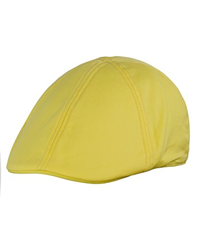 NYFASHION101 Fashionable Solid Color Unisex Cotton Duck Bill Newsboy Ivy Cap, Banana -
