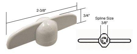 T-crank Casement Operator Handles (CRL White T-Crank Casement Operator Handles 3/8