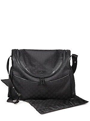 aef85e663cf5c5 Amazon.com : Gucci Baby Original GG Canvas Diaper Bag - Black : Diaper Tote  Bags : Baby