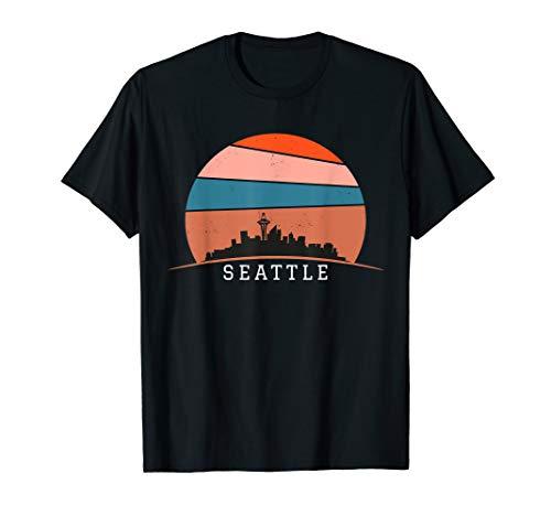 (seattle City Skyline Retro Vintage Souvenir T-Shirt)