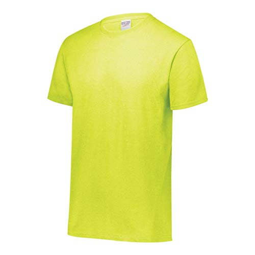 Jerzees Dri-Power Mens Active T-Shirt Large Safety Green