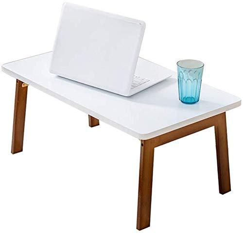 CWJ Mesas creativas Soportes Mesa rectangular, cama de bambú ...