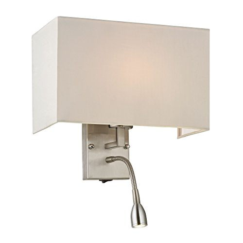 Elk Lighting 17154/2 Dixon Collection 2 Light Sconce, Brushed Nickel (Dixon Collection)