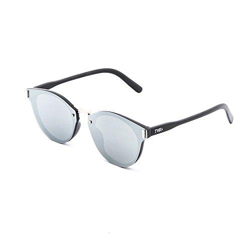 Gafas sol degradadas Negro TWIG de hombre espejo mujer KANDINSKY Plata rwqrC4