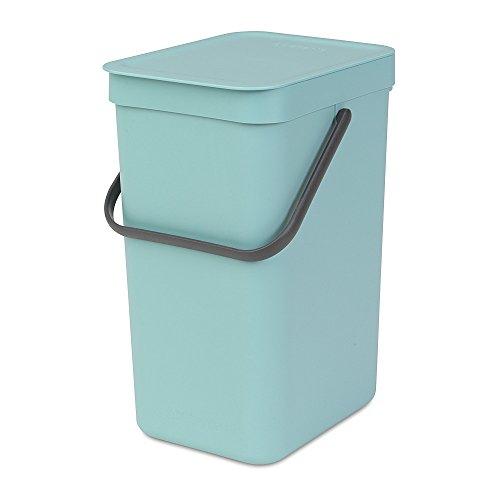 (Brabantia Sort & Go Waste Bin, 12L/3.2 Gal, 12 L, Mint)