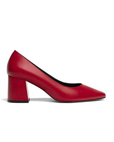 Uterque Women Red leather love high heel court shoes 4143/351 (40 EU   9 US   7 UK) by Uterque (Image #4)