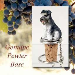 - Schnauzer Gray Uncropped Tiny One Bottle Stopper DTB103B by Conversation Concepts