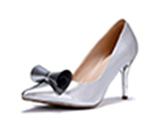 silvery YTTY 36 High Heels Bow qqUZ7Az