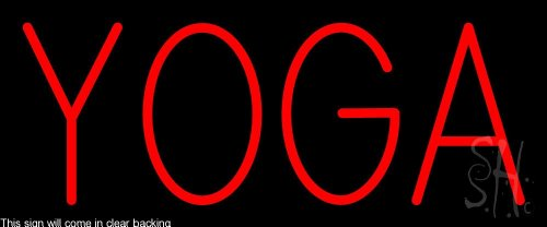 - Yoga Clear Backing Neon Sign 10