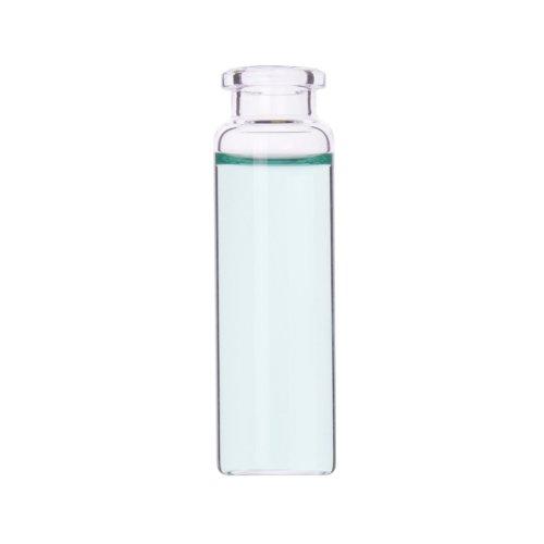 Wheaton W225283 Borosilicate Glass Clear Flat Bottom Headspace Vial, Beveled Finish, 20ml Capacity (Case of 100) ()