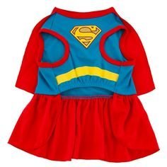 DC Comics Superman Supergirl Ruffle Dog Costume SMALL