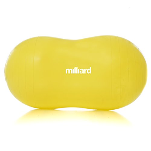 Milliard Anti-Burst Peanut Ball Approximately 35x17 in. (90x45cm) Physio Roll for Exercise, Therapy, Labor Birthing and Dog Training