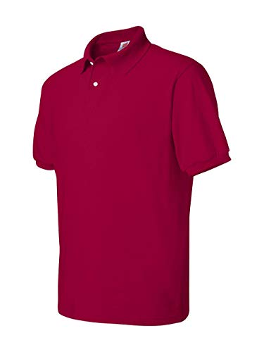 Men's 5.2 oz Hanes STEDMAN Blended Jersey Polo, Large, Deep ()
