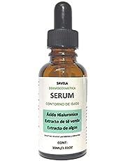 Serum Contorno de Ojos, Ácido Hialuronico, Extracto de Algas y Té Verde; Fucus, Wakame y Chitosan 30ml