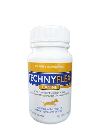 Technyflex Canine Premium Joint Supplement 80 Capsules Reduce Pain, Swelling, Inflammation From Arthritis 100 Percent New Zealand Greenlipped Mussel With Omega 3s Improves Comfort, Movement Naturally For Sale