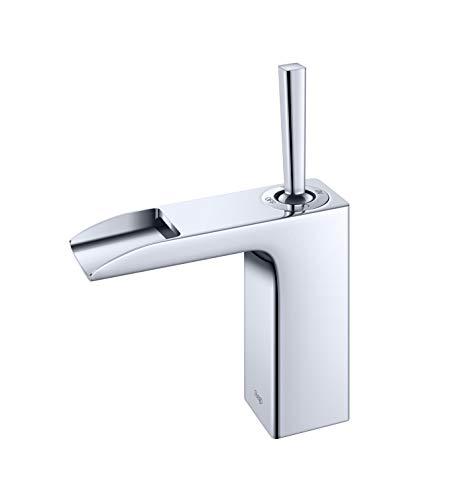 (Riego L95001 W-Series Single Hole Waterfall Bathroom Faucet, Mirrored Chrome)