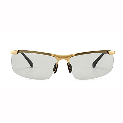 conducción los conducir de de hombres de sol de cambian que pesca noche gafas sol polarizadas de Gafas color Gafas de Gafas de de 4 para D opcionales Gold Discolored Frame; Gafas hombres Día afluencia y inteligentes colores 7SBU1qOqf