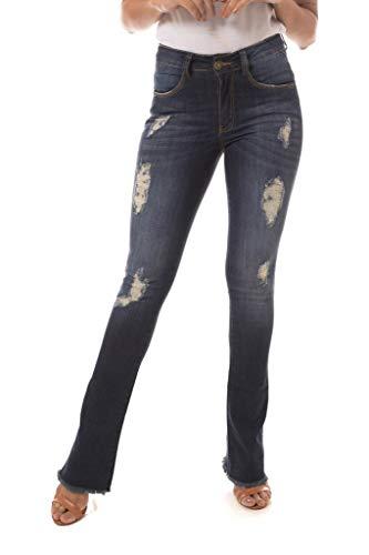 Calça Jeans Denuncia Boot Cut New Azul 38
