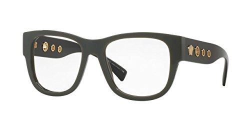 Versace VE3230 Eyeglass Frames 5193-52 - 52mm Lens Diameter Green - Versace Eyeglasses Mens