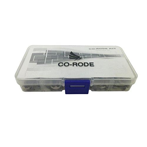 [해외]CO-RODE 200Pcs 스테인레스 스틸 E 클립 스냅 링 어소트먼트 키트, 고정 링, 서 클립, C 클립/CO-RODE 200Pcs Stainless Steel E Clip Snap Ring Assortment kit ,Retaining Ring ,Circlip ,C Clip