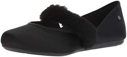 Used, UGG Women's W Lena Fluff Flat Sneaker, Black, 8 M US for sale  Delivered anywhere in USA
