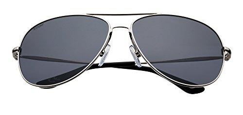 213834d71 Zippo Silver Polarized Oval Pilot Sunglasses