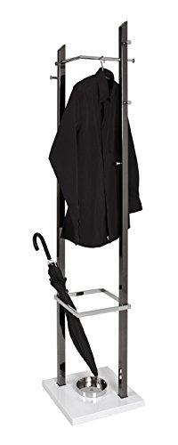Haku 4 unidades - Perchero de pie negro de níquel cromo de ...