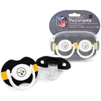 Pittsburgh Steelers Football NFL-licensed 2-pack Infant Pacifier (Pittsburgh Steelers Baby Bottles)