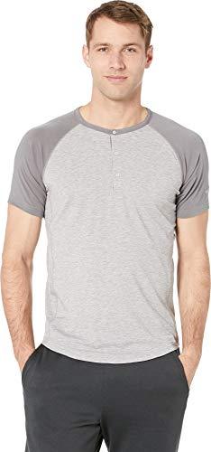 Brooks Men's Cadence Short Sleeve Top Heather Ash/Ash Large (Shirts Brooks Running)