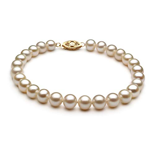 White 6-7mm AA Quality Freshwater Cultured Pearl Bracelet for Women-7 in Length
