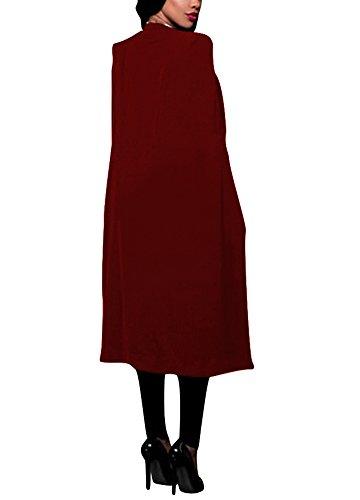 Cardigan OL Long Costume Femmes Solide Manteau Blazer Mince Romacci Cape Casual Split Bureau Veste Surv Manteau pxPfIqYR