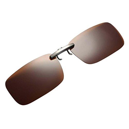 Clip Sharplace sol al Deporte para Protección Solar con marrón Polarizadas Libre Pesca Aire Gafas UV400 de pPxPX