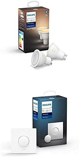 Philips Hue Pack de 2 Ampoules LED Connectées White Ambiance GU10 Compatible...