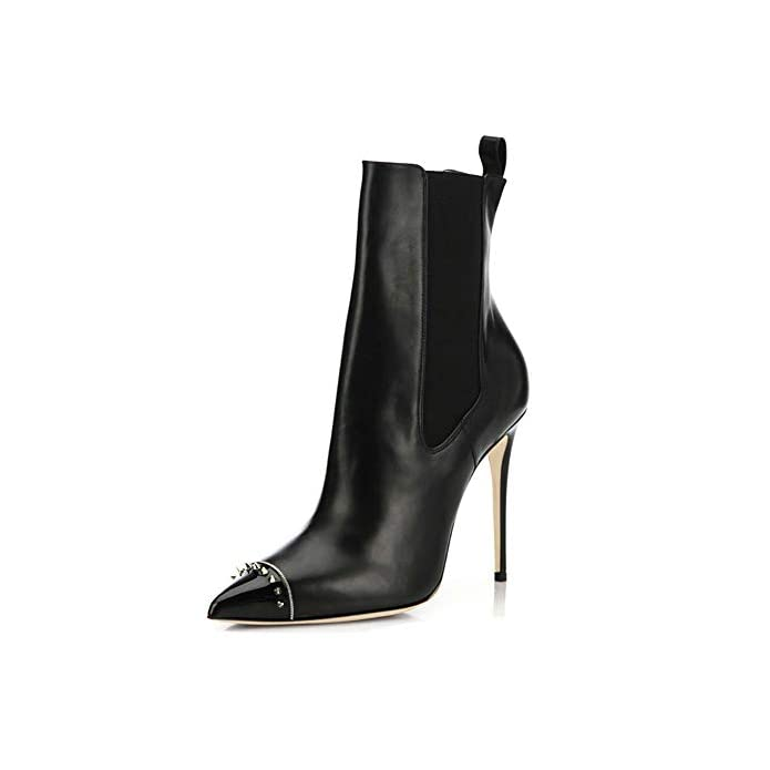 Boots Stivaletti Tacco Stivali Elegante Rivetto 34-45 Moda Inverno mwoook-273 Plateau Autunno Alto