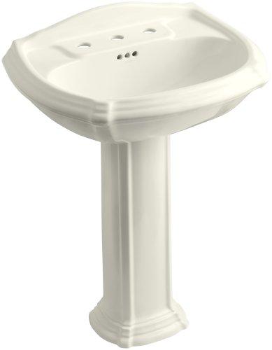 KOHLER K-2221-8-96 Portrait Pedestal Bathroom Sink with 8