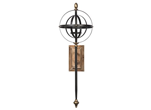 Signature Design by Ashley A8010118 Dina Wall Sconce, Black/Gold Finish by Signature Design by Ashley