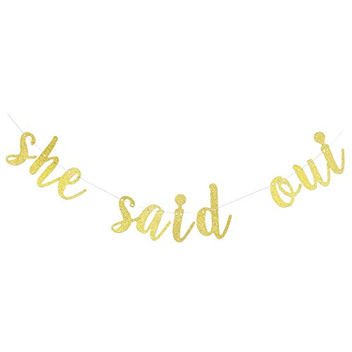 She Said Oui Banner Paris Themed Bachelorette Party Decorations Bride to be Banner she Said yes Banner, Engagement/Bridal Shower/Wedding Decorations -
