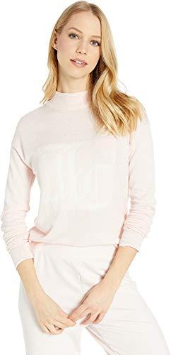 Juicy Couture Women's Mock Neck Intarsia Logo Sweater Rose Quartz Medium