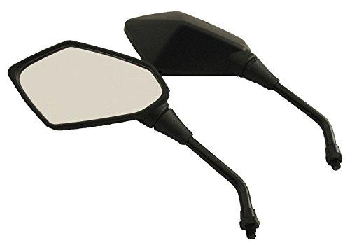 Neverlandback® Pair of Stealth Style Motorcycle Mirrors - Kawasaki, Suzuki, Honda, - Hoosier Glass Style