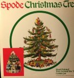 Spode Christmas Tree ''Toys Around The Tree'' Cookie Jar with Lid